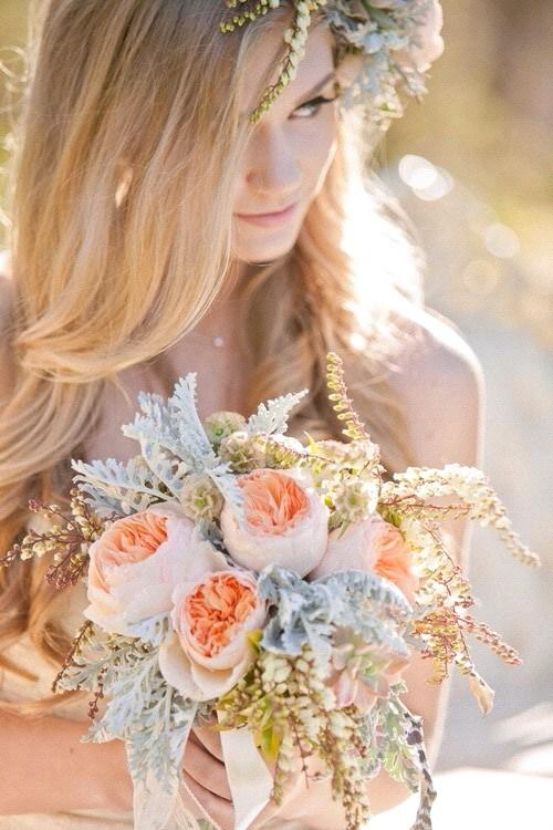 唯美浪漫的新娘手捧花