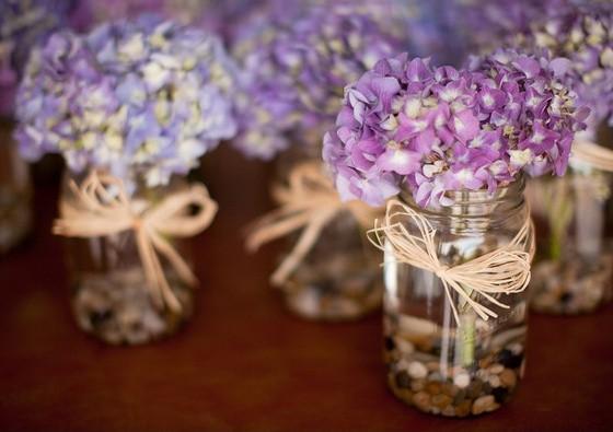 唯美紫色主题婚礼细节美图