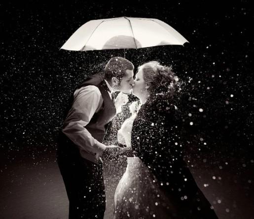 唯美接吻意境美图 祝情人节快乐