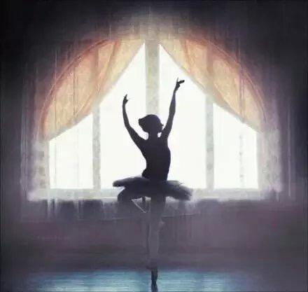 意境黑白图片:一支绝美芭蕾