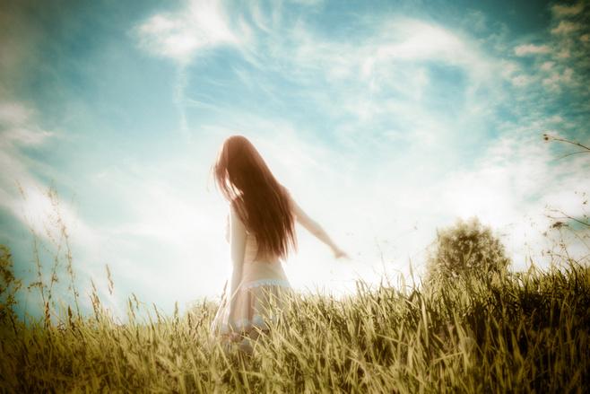 人淡如菊   唯美美女意境美图