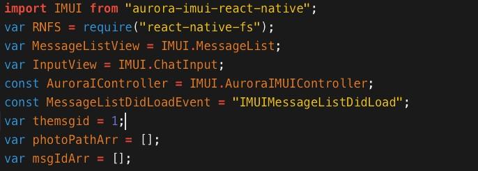 聊天组件 aurora-imui-react-native